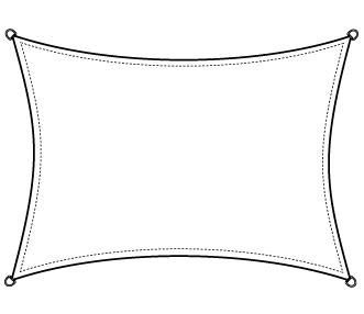 Kwadratowy żagiel wodoodporny słoneczny