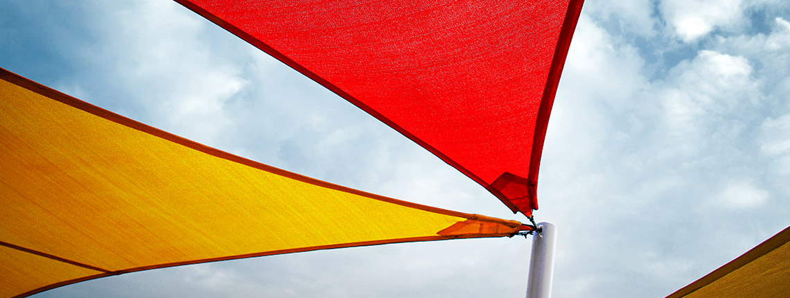 żagle przeciwsłoneczne na taras wodoodporne